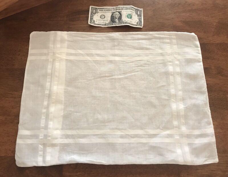 Antique Linen Small Boudoir Pillowcase Button Closure