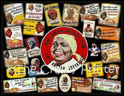"AUNT JEMIMA Photo Collage MAGNET - Vintage Labels - Size 5"" x 7"" - Ship Free!"