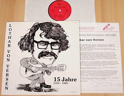 LOTHAR VON VERSEN - 15 Jahre 1974-1989  (mcs 1989 + PROMO-BEILAGE / LP MINT)