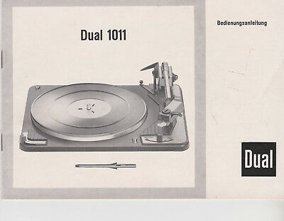 Original Dual Bedienungsanleitung 1011 Schallplattenspieler KEINE KOPIE!