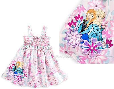 NEW Disney Store Frozen Princess ANNA ELSA Floral Sundress or Swimsuit Coverup   (Disney Princess Sundress)