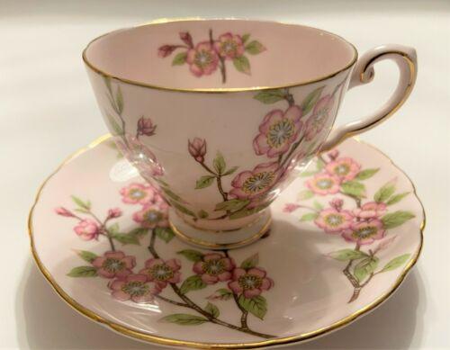 "*RARE* - TUSCAN - ""Springtime"" (small pink flower pattern) teacup & saucer"
