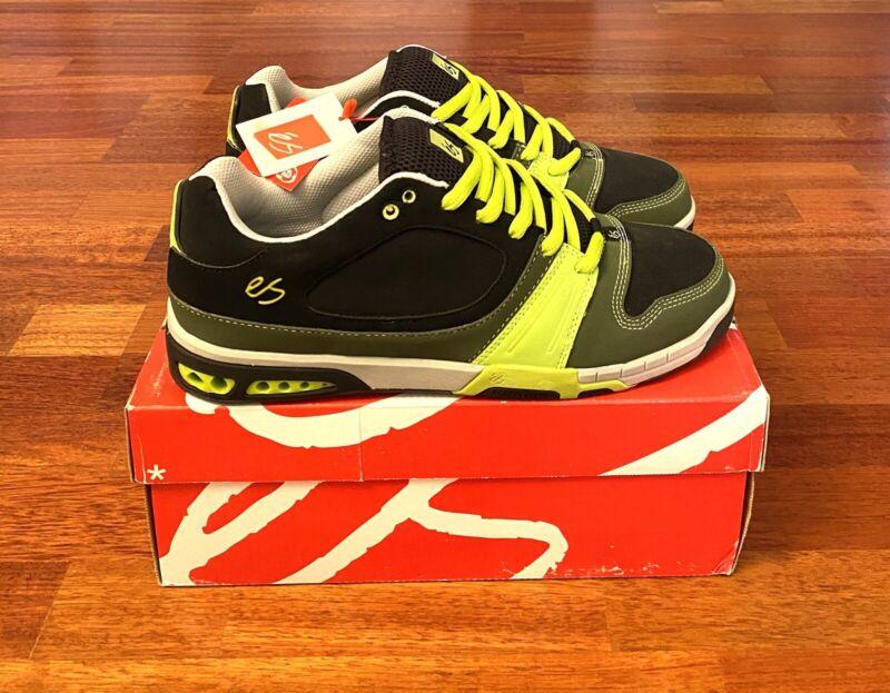 'eS SCREEN Skateboarding Shoes Size 11 Black/Green/Lime ULTRA RARE NOS