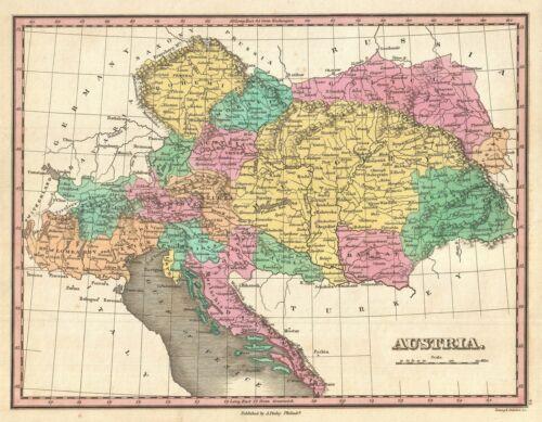 1827 Finley Map of Austria