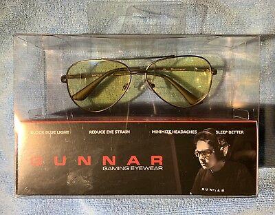 Gunnar Optiks Advanced Computer / Gaming Eyewear - Maverick Gunmetal - Amber