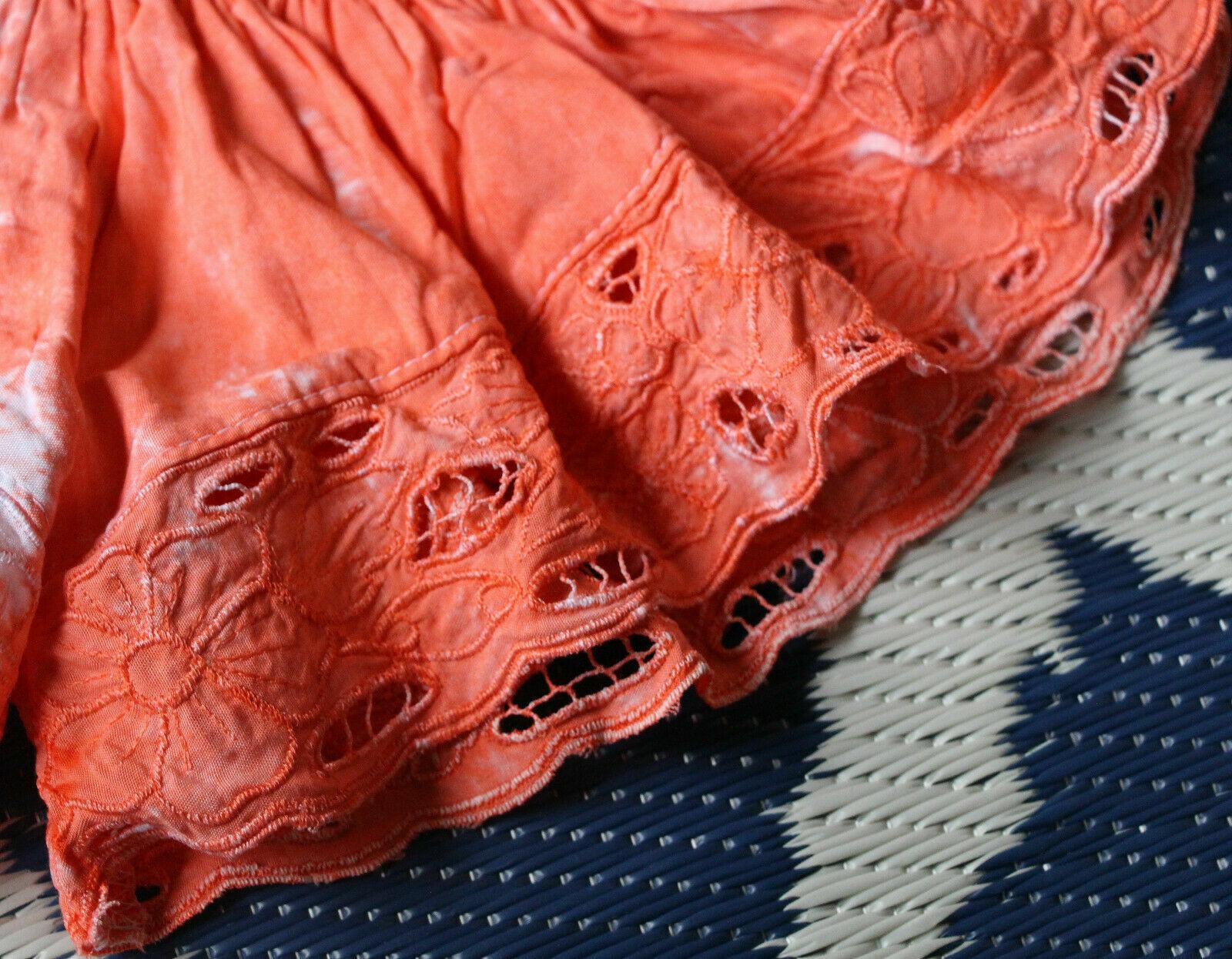 Short orange tissus brigitte b. saint tropez neuf t1