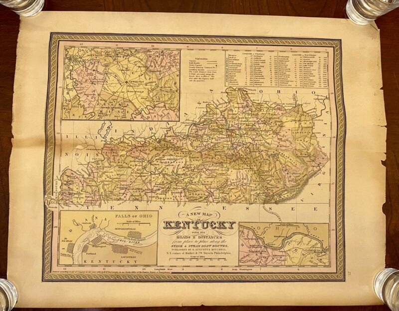 Mitchell's 1846 New Map Of Kentucky