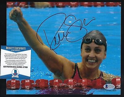 """Rebecca Soni signed 8""""x 10"""" photo BAS Authenticated Gold Medal Olympic Swimmer for sale  Shipping to Canada"""