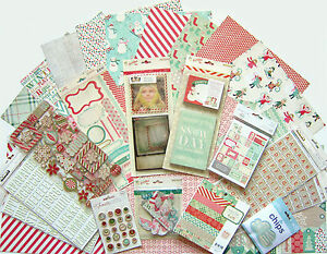 Crate Paper [ Bundled Up] 12 x 12 Paper & Embellishments (Set C) Save 60%