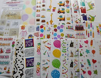 Mrs. Grossman sticker sheet You Choose - Birthday Party Anniversary Celebration (Anniversary Stickers)