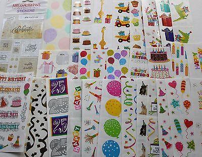 Mrs. Grossman sticker sheet You Choose - Birthday Party Anniversary - Anniversary Stickers