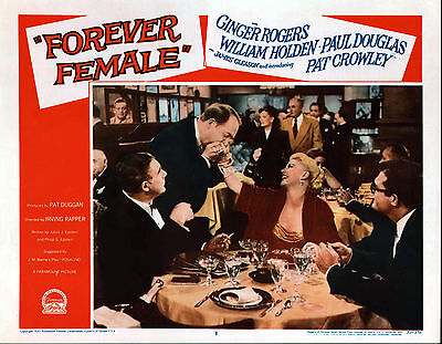 FOREVER FEMALE 11x14 GINGER ROGERS/GEORGE REEVES original lobby card poster