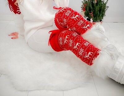 Weihnachts-Stulpen Beinstulpen One size Christmas norwegermuster Damen