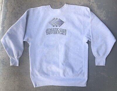 Vintage 90s Champion Made In USA Reverse Weave Crewneck Denver Athletic Club L