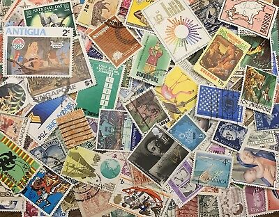 [Lot G] 250 Different Worldwide Stamp Collection off paper - GREAT Value!