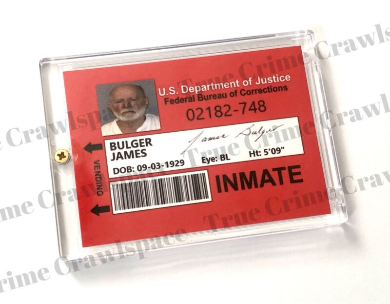 Whitey Bulger Collector Card With Signature RP In Case * Mobster / Gangster