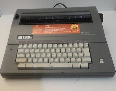 Smith Corona Sl 575 Spell Right Dictionary Portable Electric Typewriter 5a-a