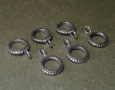 Charm Holder set of 3 Sterling Silver Pendant Bail with Ring Finding