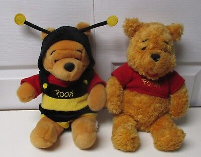 Disney Lot of 2 Winnie the Pooh Bumble Bee costume w/wings  & Red Shirt Plush  - Bumblebee Car Costume