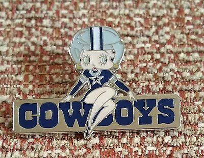 DALLAS COWBOYS BETTY BOOP Lapel Pin