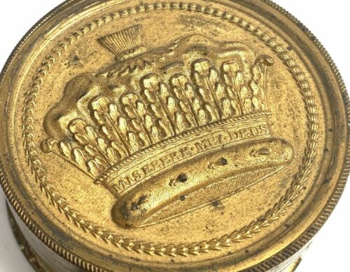 Royalty English British Wax Seal Box Royalty Patent Nobility Document Grant Arms