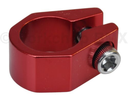 """Old school Tuf Neck style BMX bicycle seat clamp 25.4mm (1"""") - RED ANODIZED"""