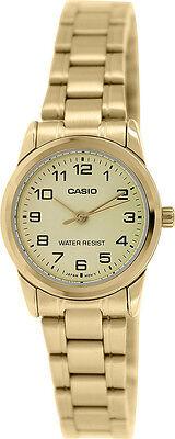 Casio Women's Analog Quartz Gold Tone Stainless Steel Watch LTP-V001G-9B