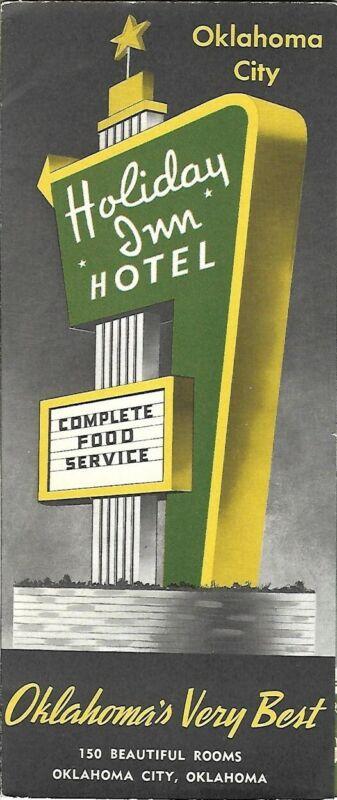 1956 OKLAHOMA CITY HOLIDAY INN HOTEL Brochure Route 66 Sirloin Room Restaurant