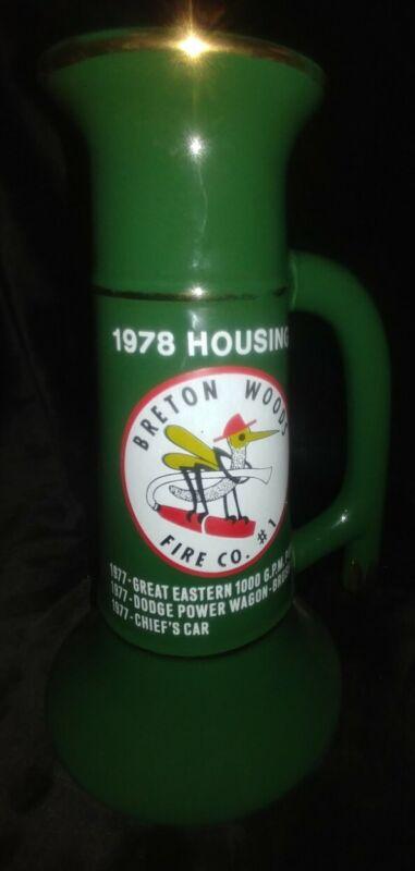 Breton Woods New Jersey Fire Company Historical Memorabilia Mug Glass Vase Cup