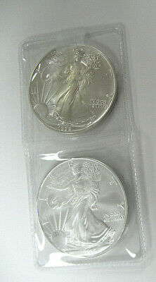 US Two UNC. 1 oz .999 SILVER AMERICAN EAGLES Dated 1992 & 2004-TWO TROY OZ TOTAL