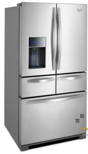 "36""  26 cu. ft. Double drawer Whirlpool refrigerator"