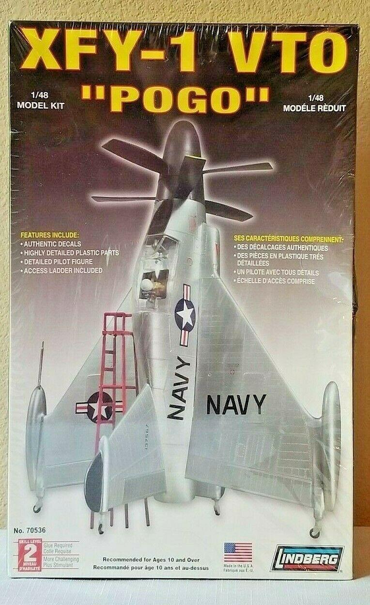 "Lindberg XFY-1 VTO ""Pogo"" Vertical Takeoff 1:48 Model Kit 70536 FACTORY SEALED"