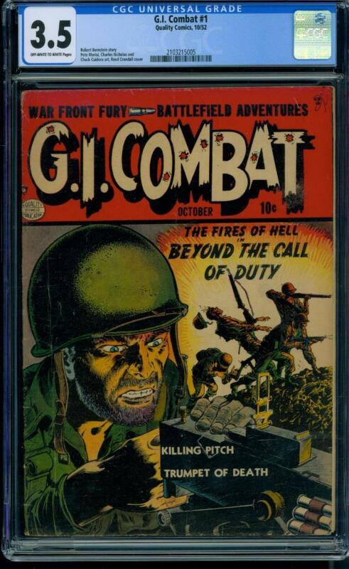 G.I. Combat #1 [1952] Certified 3.5 CLASSIC COVER