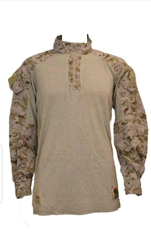 Genuine Issue USMC Desert Marpat Frog Combat Shirt Size Medium Regular