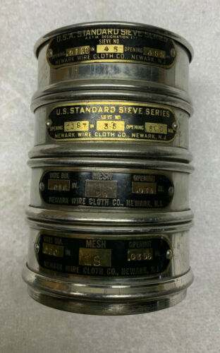 Lot of Four Fisher Tyler Newark ASTM Test Sieve Set