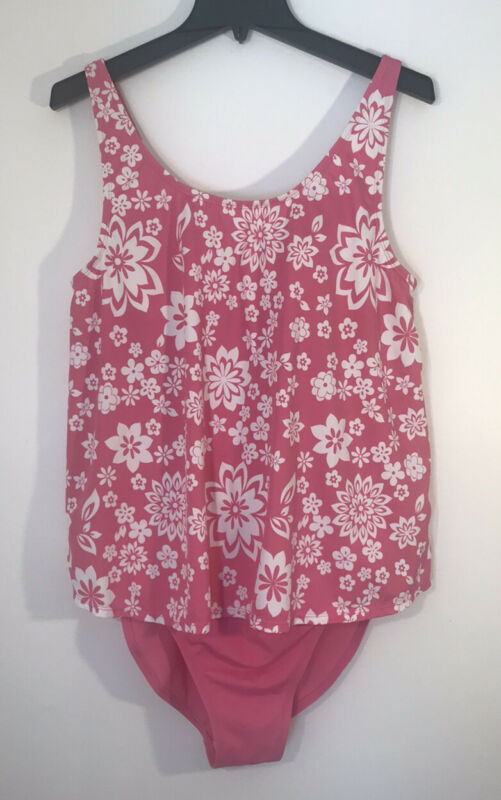 Motherhood Maternity Swimsuit One-piece XL Pink And White