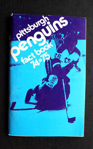 Original-Vintage-1974-75-PITSSBURGH-PENGUINS-Hockey-FACT-BOOK-Schedule