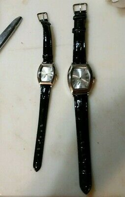 MEN'S AND WOMEN'S MATCHING WATCHES LEATHER STRAPS CHRISTMAS GIFT