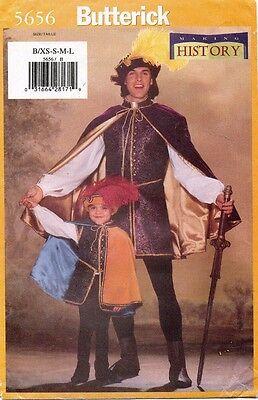 Butterick Herren / Boy's Renaissance Kostüm Muster 5656 Größe XS-L (Butterick Herren Kostüm Muster)