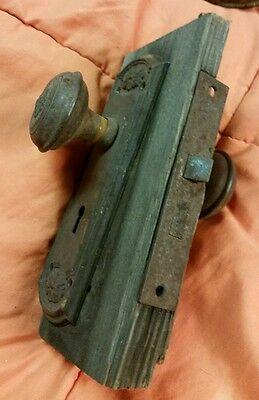 Antique LockSet  Door Knobs Backplates Hardware vintage old