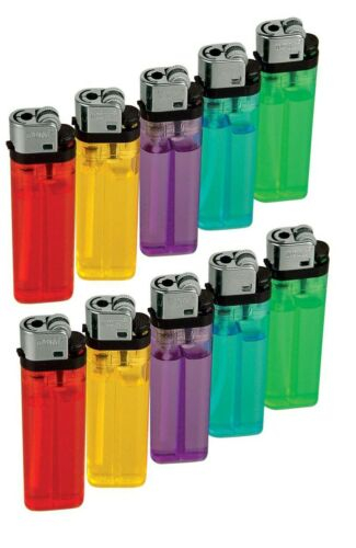 10 Pieces Cigarette Wholesale Disposable Lighters Pack with Display Stand