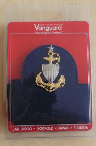 USCG US COAST GUARD SCPO CHIEF PETTY OFFICER COMBINATION CAP BADGE HAT BAND SET