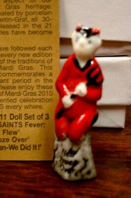 2011 Haydels king cake doll HELL FROZE OVER Mardi Gras New Orleans haydel SAINTS