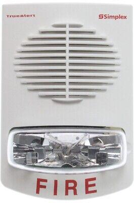 Simplex 4906-9153 - Wall Mount Speaker Strobe - White