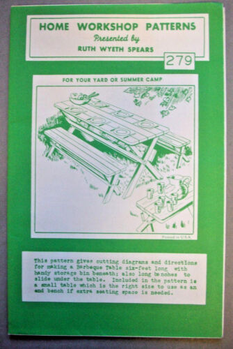 Picnic table and benches Spears woodworking pattern