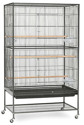 X-Large Wrought Iron Flight Multiple Birds Parakeets Canaries Cage W/Stand 415