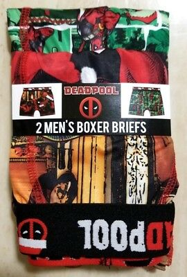 Mens DEADPOOL 2pk Boxer Brief - Size S M L XL Christmas Holiday MARVEL funny