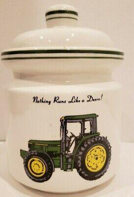 """John Deere Kitchen Jar Cookie Jar 8"""" tall"""