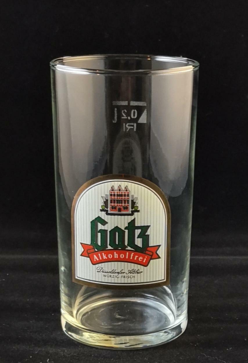 2 Gatz Alkoholfrei Gläser, Düsseldorfer Altbier,  0,2 l, 2 Stück, Kneipe, Neu