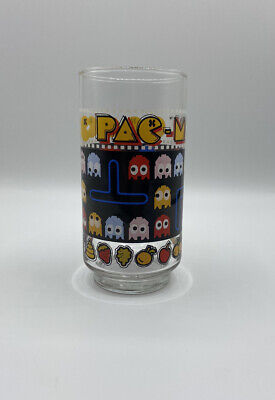 1980 Bally Midway Vintage Pac Man Video Game Drinking Glass Tumbler